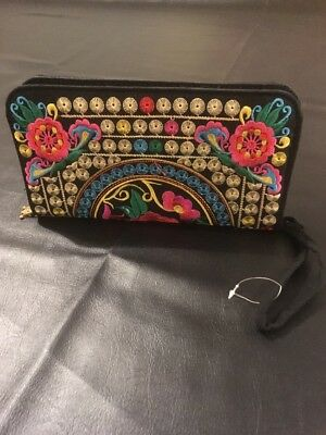 Ladies Wallet, Embroidered, New