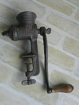 No 1 UNIVERSAL FOODCHOPPER - 1897 - 1899 ANTIQUE MEAT MINCER - GREAT BRITAIN