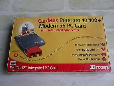 Realport2 - Xircom Cardbus Ethernet 10/100+ Modem 56 Pc Card + Connectors