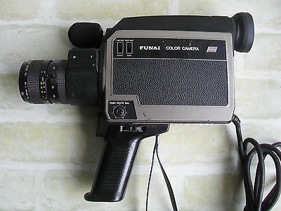 Rare Vintage Funai Color Movie Camera - Model F612C - Made In Japan