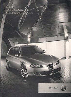 Alfa Romeo 147 Specification 2006 UK Market Brochure Turismo Lusso TS JTDm