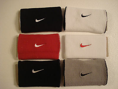 3 pairs of Nike Double-wide Reversible Wristbands