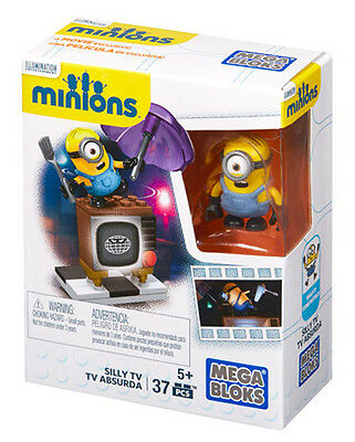 Mega Bloks Despicable Me Minions Made Silly Tv Minion Building Blocks Cnf49