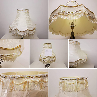 "10""/12""/14""/16""/18""/22"" Traditional Fully Lined Cream/gold Table Lamp Shade"