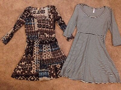 Lot Of 2 Dresses 3/4 Sleeves Size XS Small