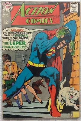 Action comics #363 (1st series ) 1968 GD/VG condition. 48 year old classic.