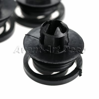 Black Nylon Rivet Clips Door Trim Panel Retainer Fastener 50pcs for Volkswagen
