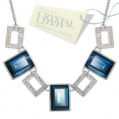 Platinum Plated Crystal Necklace & Pendant with Swarovski Elements