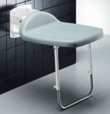 10AQ Pressalit Folding Shower Seat with Support Leg R1602 Wet Rooms