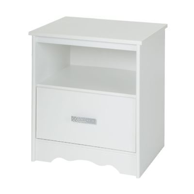South Shore Furniture Tiara 1-Drawer Night Stand, Pure White