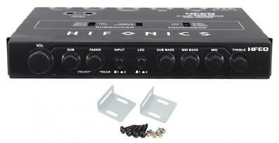 Hifonics HFEQ 4-Band Equalizer with 9V Line-Driver & Multiple-Source Processor