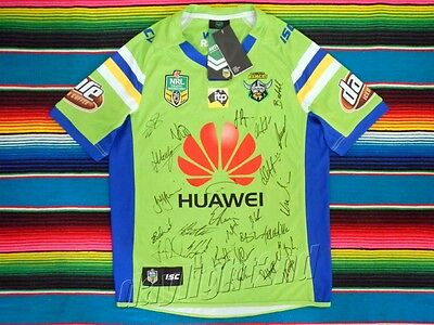 ✺Signed✺ 2017 CANBERRA RAIDERS NRL Jersey PROOF COA 30 Autographs
