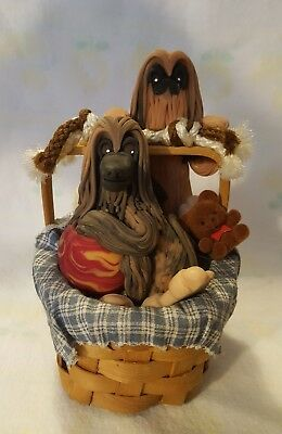 Afghan Hound Hand Made Music Box It Plays (How Much Is That Dog In The Window)