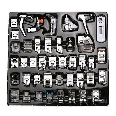 42 PCS Domestic Sewing Machine Foot Feet Snap On For Brother Singer Set New