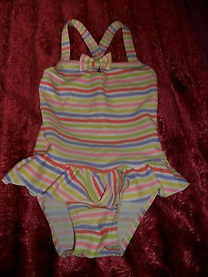 Baby Girls Striped  Swimsuit Age 12-18 Months new no tag