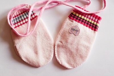 Authentic Boutique Girls KENZO Kids mittens Size 2T Pink NWoT