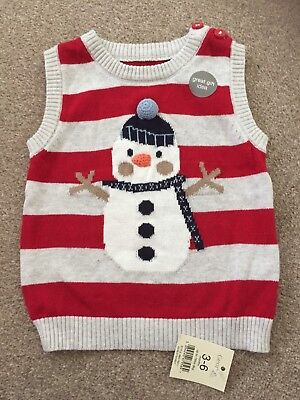 New With Tags 3-6 Months George Snowman Tank top Boys