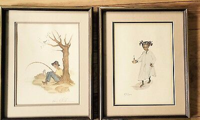 """Annie Lyle Viser Signed and/or Numbered Prints, """"Primrose"""" and """"Jason"""""""