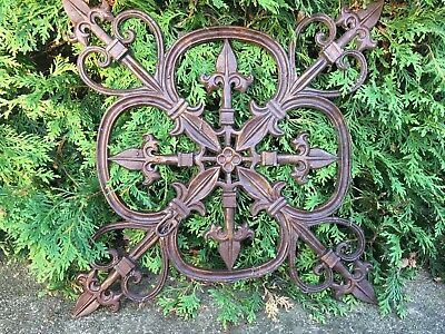 LARGE VICTORIAN Cast Iron Window Grate Antique Architecture Garden Ornament