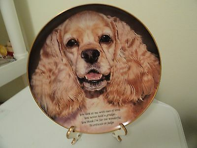 Eyes of Love Collector's Plate by The Danbury Mint Cocker Spaniel Dog