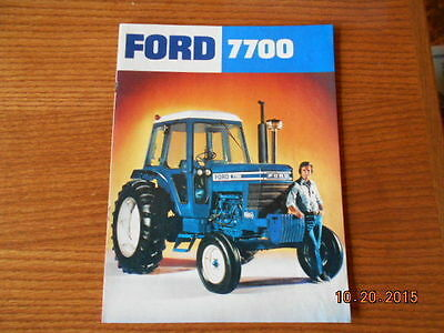 Ford 7700 tractor sales brochure