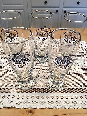 5 Creveza Crystal Beer Glasses Brazil 300ml