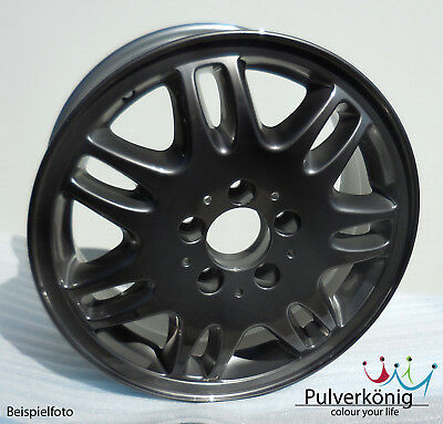 Pulverlack Schwarz transparent Candy Lasur Pulverbeschichtung Powdercoating
