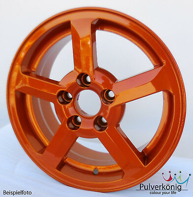 Pulverlack Orange Candy Lasur Pulverbeschichtung Powdercoating