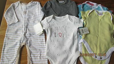 Brand New Bundle of Baby Rompers. Mamas & Papas, Next. Age 0-3mths.