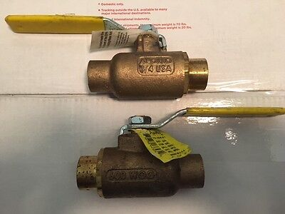"Apollo 3/4"" BALL VALVE, FULL PORT SWEAT 600 WOG, 70-204-01, Brass (2pc.)"