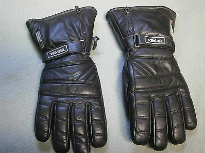 Motorcycle Gloves 3M Thinsulate Size M Kevlar Gauntlet Type With Raincover