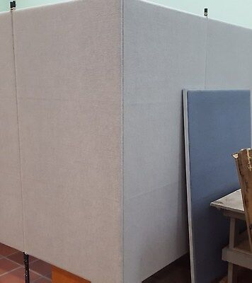 Armstrong Displays Office Partitions Grey 7 Foot X 38 Inches A Panel 6 Panels