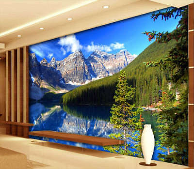 Natural Lakes 3D Full Wall Mural Photo Wallpaper Printing Home Kids Decoration