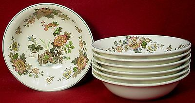 """WEDGWOOD china EASTERN FLOWERS TKD426 pattern COUPE CEREAL BOWL 6-1/4"""" set of 7"""