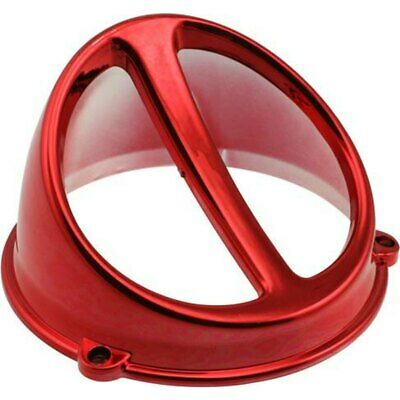 Lüfterspoiler Air Scoop Chrom rot-universal-Adly/Herchee,AGM,Atala/Rizzato,ATU