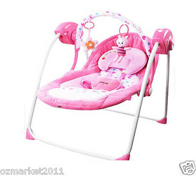 Fashion Security Pink Comfortable Baby Swing Chair/Electric Rocking Chair SS