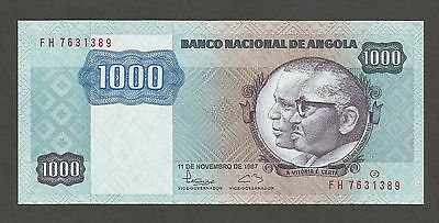 Angola 1000 Kwanzas 1987; UNC; P-121, L-B513b; Soldiers with weapons
