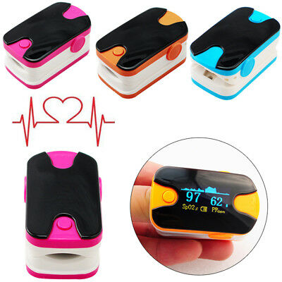 ABS Fingertip Blood Oxygen Meter SPO2 OLED Pulse Heart Rate Monitor Oximeter UK