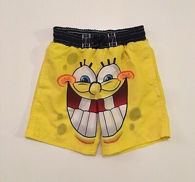 Nickelodeon Spongebob Squarepants Infant Boys 12 Months 12M Swimming Trunks,