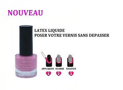 Latex Liquide Peel Off Protection Ongle Pose Vernis Nail Art Ong065