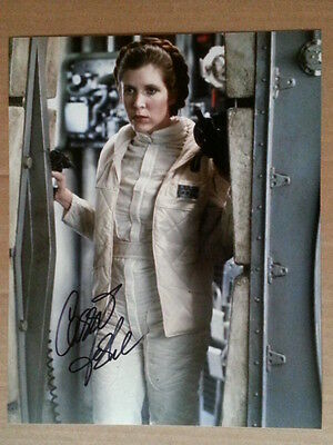 Carrie Fisher Original Hand Signed Autograph 8 x 10 Photo with COA Star Wars
