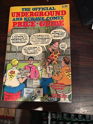 The Official Underground and Newave Comix Price Guide Jay Kennedy 1st Print 1982