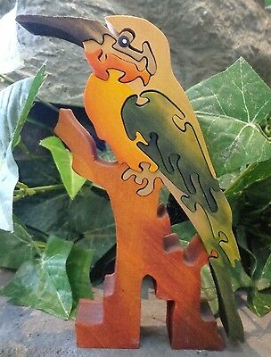 Wooden Parrot Puzzle 8 pieces ~ FREE SHIPPING