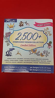 Brother Pacesetter 2500+ Embroidery Design Collection LIMITED EDITION MSRP $2500