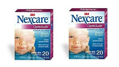 "3M 1537 Nexcare Opticlude Junior Orthoptic Eye Patch 2.5"" x1.25"" Oval 20 Per Box"