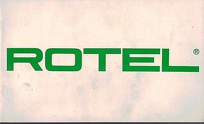 Rotel Hi Fi Range Amps Tuners Receivers Turntables Brochure / Leaflet  3145F