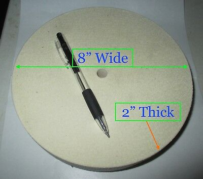 """Buffing Wheel - 8"""" Diameter by 2"""" Thick - ½"""" Arbor Hole - NEW"""