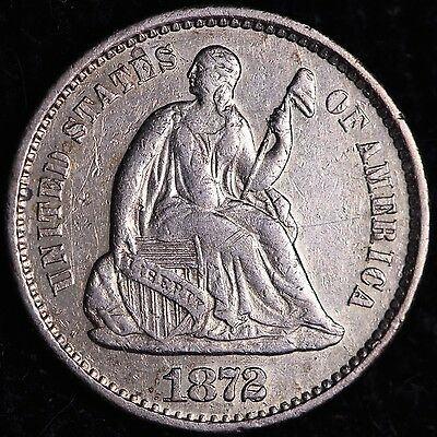 1872-S Seated Liberty Half Dime R9JHT