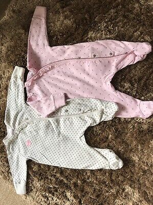 NEXT Baby Girl 0-1 Month Babygrow Bundle
