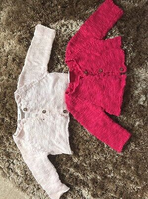 NEXT Baby Girls 0-1 Month Cardigan Bundle